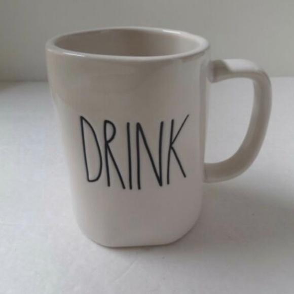 "Rae Dunn Other - 🎈🎈~Rae Dunn~""DRINK""~Coffee/Tea/Coco Mug~NEW~ ❤️"